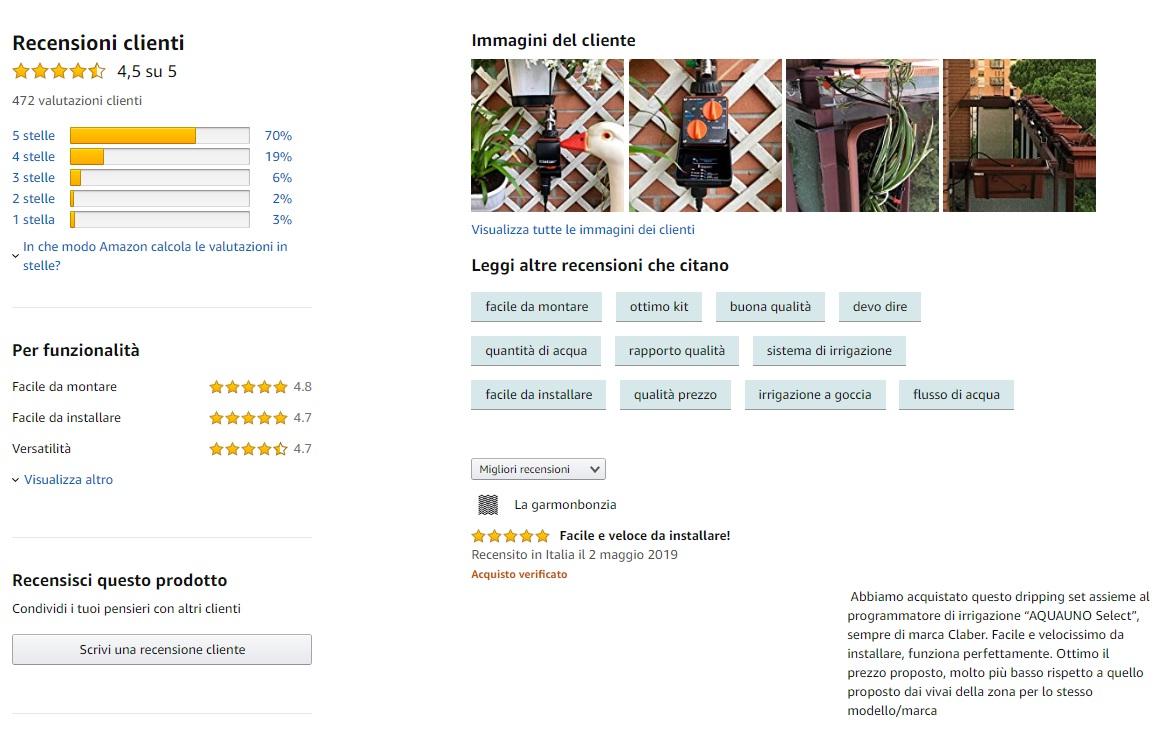 L'analisi dei dati esistenti per capire cosa vendere su Amazon - le recensioni